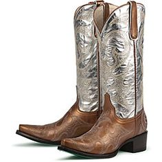 love them  @Overstock - A metallic silver shaft and copper toes highlight these cowboy boots from Lane Boots. The soft insole provides an extra comfortable fit in these Lucky Pocket Change boots.http://www.overstock.com/Clothing-Shoes/Lane-Boots-Womens-Lucky-Pocket-Change-Cowboy-Boots/4816897/product.html?CID=214117 $250.00