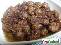 POLPETTINE CON CIPOLLA IN AGRODOLCE - Le ricette di FraGolosi