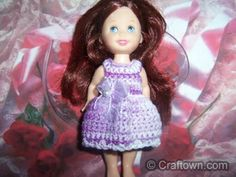 Kelly doll dress crochet pattern.