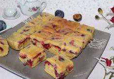 Gâteau 4/9 à la prune #recette Chez Vanda, Un Cake, Cheesecakes, Pancakes, Dairy, Pie, Fruit, Breakfast, Desserts