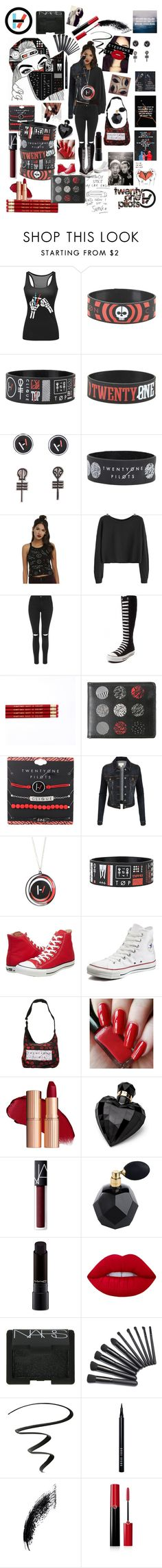 """You all have guns, but you never put the safety on"" by gothgirl87454 ❤ liked on Polyvore featuring Topshop, Converse, LE3NO, Traits, Lipsy, NARS Cosmetics, MAC Cosmetics, Lime Crime, NYX and Bobbi Brown Cosmetics"