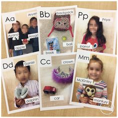 Create your classroom alphabet line with student photos and things students identify for that letter. Giving students' ownership for the alphabet will make it more meaningful. Kindergarten Literacy, Early Literacy, Preschool Writing, Preschool Class, Preschool Letters, Preschool Education, Early Education, Preschool Ideas, Alphabet Activities