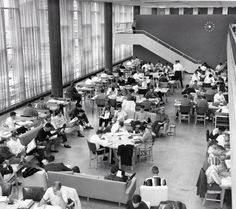 Georgia Tech Library, 1950s. 64 years later, and the Georgia Tech Library is still full!