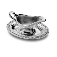 Flutes & Pearls Gravy Boat w/Tray - Flutes & Pearls - Collections