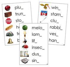 Step 2: Ending Sound Cards (photos) Phonetic Sounds, Blue Words, Montessori Classroom, Language, Letters, Photos, Cards, Pictures, Languages