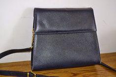 Handmade, Vintage - Pixalia - haine si accesorii faine: Geanta din piele naturala albastra Furla