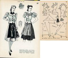 1940s (1940-1941) German Women's Dirndl Lutterloh 1940-41 67