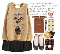 """""""♡♡"""" by preciouspearll ❤ liked on Polyvore featuring Monica Rich Kosann, Kate Spade and catstyle"""