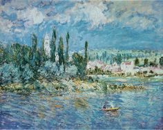 """""""Landscape with Thunderstorm"""" by Claude Monet"""