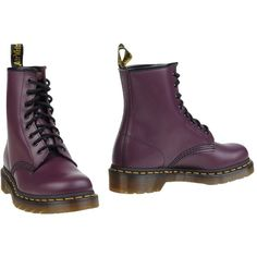 Dr. Martens Ankle Boots ($115) ❤ liked on Polyvore featuring shoes, boots, ankle booties, mauve, leather ankle boots, round toe boots, bootie boots, leather booties and dr martens boots