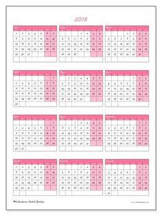 Gratis! Calendarios para 2018 para imprimir - España