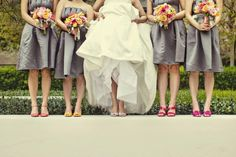 Google Image Result for http://www.merledress.com/blog/wp-content/uploads/2012/08/gray-bridesmaids-dresses-and-pink-shoes.jpg
