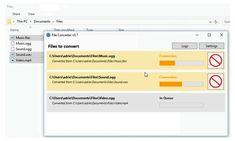 File Converter es un impresionante software gratuito para convertir archivos de todo tipo desde el menú contextual. No puede faltar en tu PC. Software, File Share, Music Files, Php, Budgeting, Names, Marketing, Hardware, Filing Cabinets