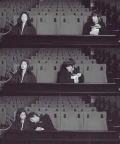 Flower Boy Next Door, Go Dok Mi & Que Geum cute movie theatre scene.