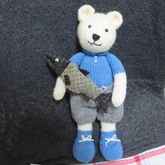 Knitting Patterns Free Toys Teddy Bears Yarns 32 Ideas For 2019 Yarn Dolls, Knitted Dolls, Knitting Stitches, Knitting Patterns Free, Knitting Toys, Easy Knitting, New Girl, Teddy Bear Knitting Pattern, Swatch