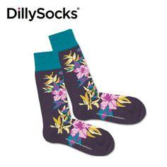 PurpleFlowerSocks by DillySocks Red Flowers, Purple, Creative, Fashion, Moda, Fashion Styles, Purple Stuff, Fasion