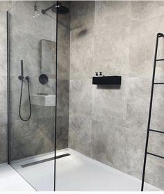 Cindy van der Heyden on Finally found the perfect bath shelf for our bathroom nichba_design Bathroom Layout, Modern Bathroom Design, Bathroom Interior Design, Bathroom Ideas, Bathroom Organization, Bathtub Ideas, Bathroom Showers, Bathroom Storage, Bathroom Cabinets