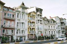 Ottoman buildings along the Bosphorous coast, New City, Istanbul, Turkey