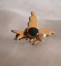 Abstract Brooch Pin Butterfly Bird w Black by TimeNSeasonTreasures, $20.00