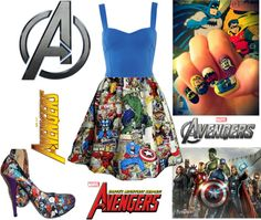 """Avengers :)"" by niki398 LOL! Love the idea of superhero themed clothes!"