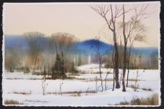 Creating Luminous Watercolor Landscapes: A Four-Step Process with Sterling…