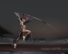 Jump high! Athlete Pole Vault