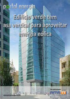 Edifício verde tem asa vertical para aproveitar energia eólica