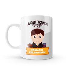 Mug - Aquí toma el mejor contador del universo, encuentra este producto en nuestra tienda online y personalízalo con un nombre o mensaje. Chocolate Caliente, Snoopy, Mugs, Tableware, Gifts, Love Amor, Ideas, Physical Therapist, China Mugs