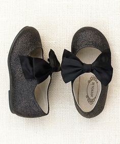 Take a look at this Black Glitter Madelyn Mary Jane - Girls by Joyfolie on #zulily today!