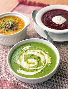 Coconut Kale Soup with Cashew Creme Fraiche from Superfoods 24/7 by Jessic Nadle. Photo by Jackie Sobon