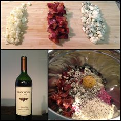 A nice Paleo Bacon Blue Cheese Meatloaf