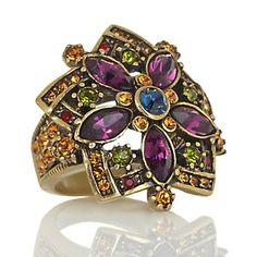"""Heidi Daus """"Corsage for the Finger"""" Crystal-Accented Flower Ring at HSN.com."""