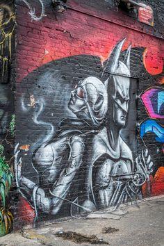 Batman and Batgirl Graffiti photo by Kai Sarton.