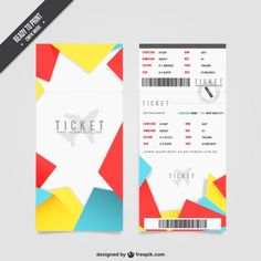 Free Ticket Templates & Psd Mockups For Your Next Branding Project Event Ticket Template, Ticket Design, Vector Photo, Mobile Design, Advertising Design, Psd Templates, Free Design, Design Projects, Vector Free