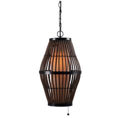 Light up your outdoor space in style with the Kenroy Home Biscayne Outdoor Pendant Light . Its rattan cage design shields a cylindrical tan,. Outdoor Pendant Lighting, Outdoor Hanging Lanterns, Outdoor Chandelier, Exterior Light Fixtures, Exterior Lighting, Fresco, Rattan, Thing 1, Lantern Pendant