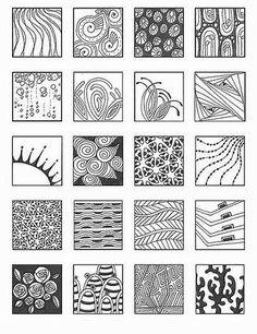 Bildergebnis für Zentangle Patterns for Beginners