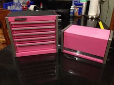 Snap-On Pink Mini Micro Tool Box Set Top Chest and Bottom Box #SnapOn