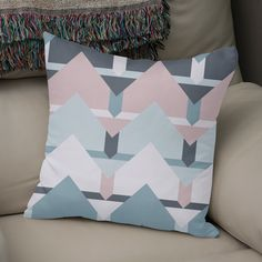 Discover «Scandi Waves», Numbered Edition Throw Pillow by DesigndN - From 25€ - Curioos
