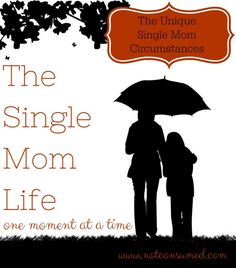 The single mom life is unique. It brings with it a set of circumstances that no one else can fathom. Journey with me as we see God in our unique situations.