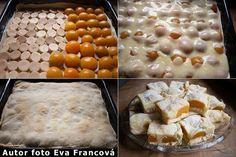 POTŘEBNÉ PŘÍSADY:  listové těsto piškoty kompotované meruňky 2 vanilkové pudinky…