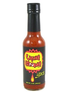 Liquid Stoopid Hot Sauce is one of the original ultra-hot sauces, and its unique flavor has stood the test of time. Featured on FoodTV's Eat the Heat show, Liquid Stoopid actually tastes good while it stoopifies you because it's made with jalapenos, onions, garlic & spices in addition to the pepper extract & vinegar. Try it if you dare! Buy online for only $5.95 here: http://www.carolinasauces.com/Liquid_Stoopid_Hot_Sauce_p/1531.htm