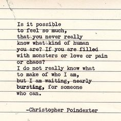 Remmington Typewriter Poetry - Christopher Poindexter