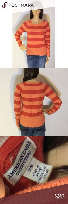 AMERICAN EAGLE OUTFITTERS STRIPED SWEATER Gently used sweater by American Eagle American Eagle Outfitters Sweaters Crew & Scoop Necks