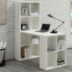 Barling Writing Desk with Hutch Office Chair Parts, Office Desk, Furniture Makeover, Office Furniture, Furniture Ideas, L Shaped Desk, White White, Desk Hutch, Best Desk