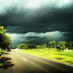 Storm right before it unleashed its rage. Sarasota, FL.