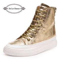Wedge Height:3cm Platform Height:1.5cm 2015 Fashion Women Wedge High Heel Sneakers High Top Punk Ladies Casual Single Shoes Snickers Wedge ...