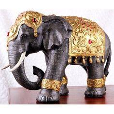 Large Thai-style Elephant Statue - Zen Home Decoration / Buddhism Inspired Elephant Figurine / Office Decoration Thai Elephant, Indian Elephant, Elephant Love, Elephant Art, Elephant Theme, Thai Decor, Zen, Elephant Home Decor, Elephant Decorations