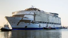 Harmony of the Seas, the world's largest cruise ship is on its trial voyage