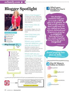 #layout #magazine #online  Layout for our Web TOC page in OC Family