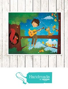 Boy Playing Guitar - Archival Print from Cherimoya Art https://www.amazon.com/dp/B01GDUUZY6/ref=hnd_sw_r_pi_awdo_vyVyybP9CTX2Y #handmadeatamazon